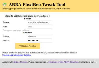 Přihlášení do FlexiBee