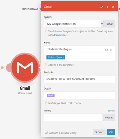 Integromat gmail