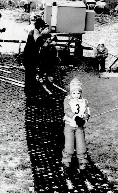 1989 – listopad – z veřejných závodů na umělé hmotě. Foto: Archiv lyžařského oddílu