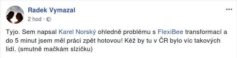 Radek vymazal connectica real facebook post