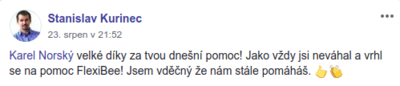Stanislav kurinec flexibee real facebook post