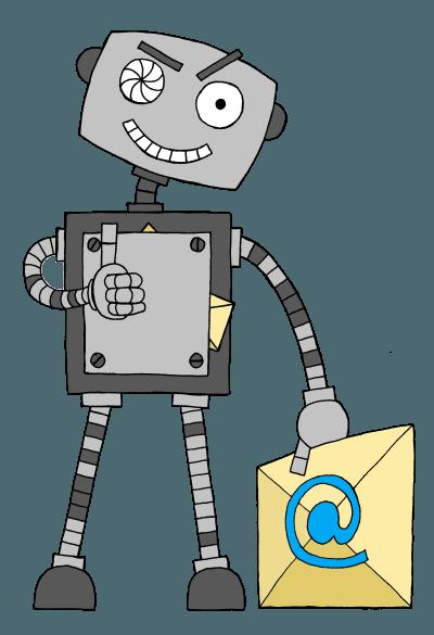 Odeslání e-mailu je pro robota hračka