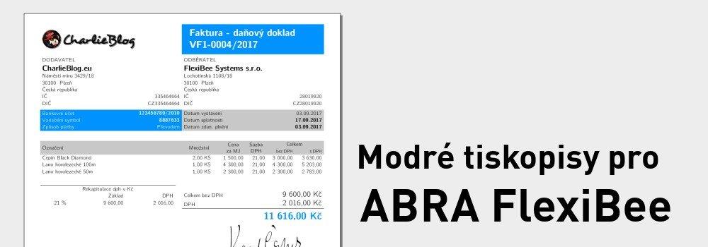 Modré tiskopisy pro ABRA FlexiBee